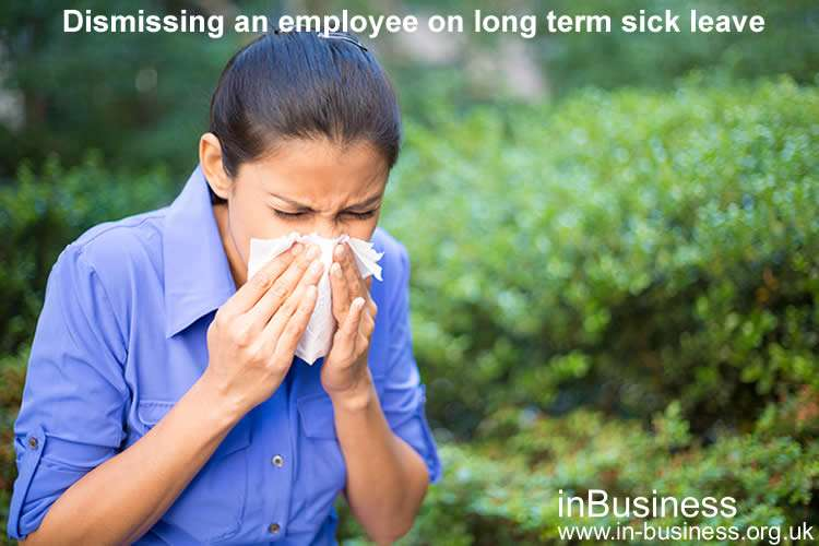 Dismissing an employee on long term sick leave