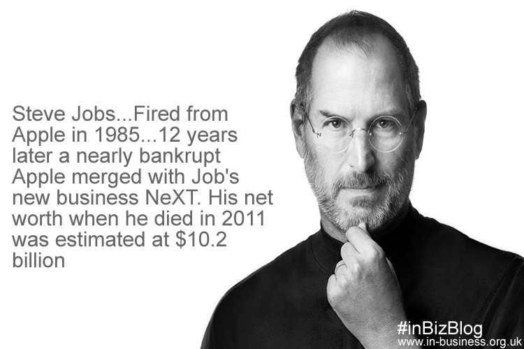Famous entrepreneur Steve Jobs from fired to great success