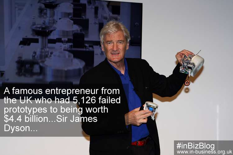 Famous entrepreneur with 5126 failed prototypes Sir James Dyson