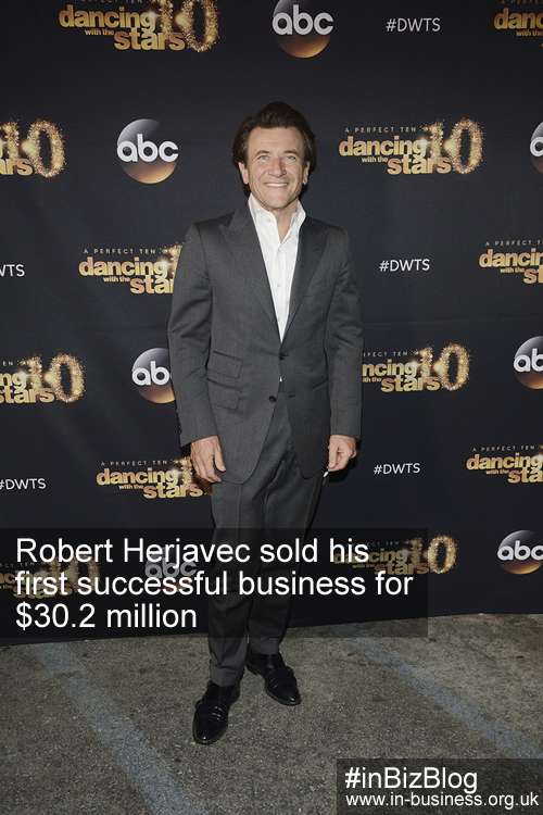 Multi-millionaire Robert Herjavec sold his first business for $30 million