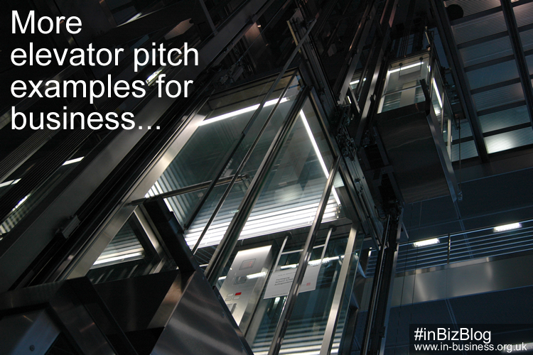More elevator pitch examples for business