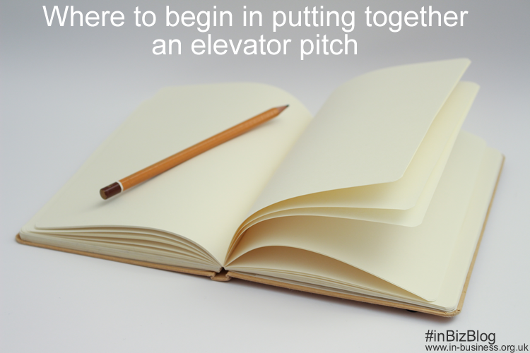 Where to begin to write an elevator pitch
