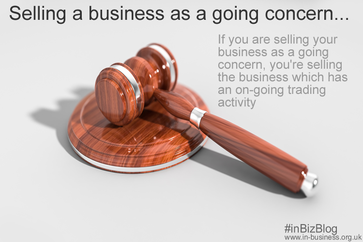 Selling a business as a going concern