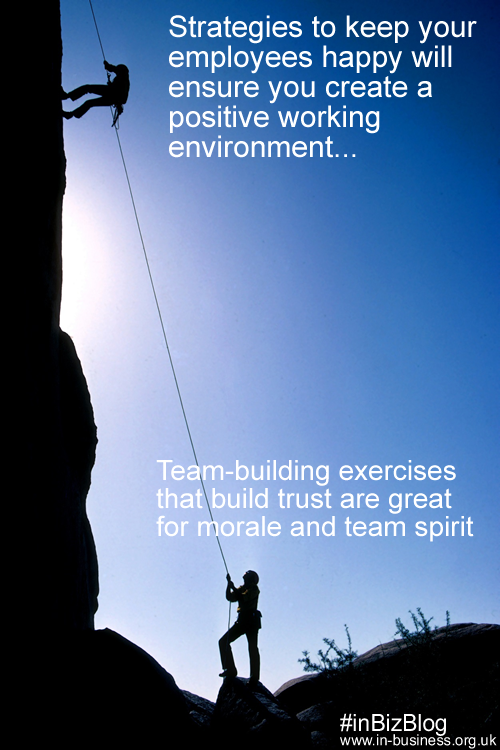 Team building improves trust and employee retention