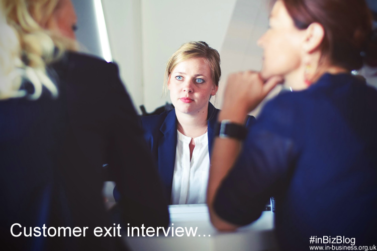 Customer exit interview