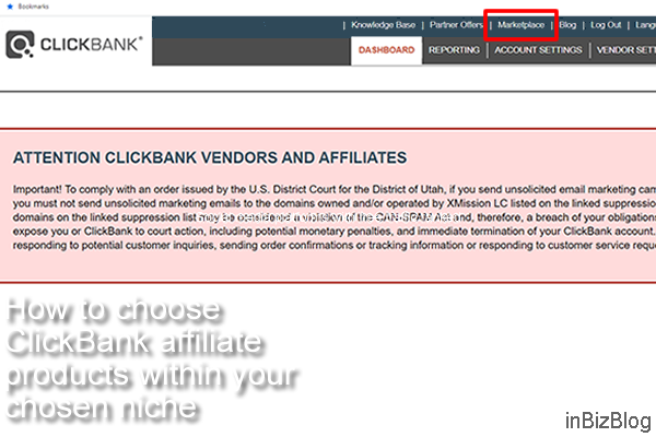 How to choose ClickBank affiliate products within your chosen niche